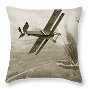 Captain Hawkers Aerial Battle Throw Pillow