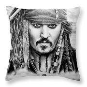 Captain Jack Sparrow 2 Throw Pillow