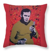 Captain Kirk Throw Pillow