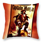 Captain Morgan Red Toned Throw Pillow