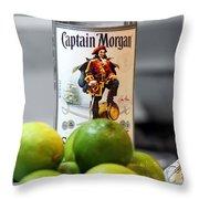 Captain Morgan Throw Pillow