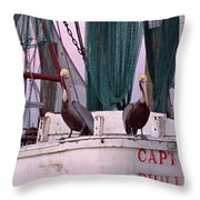Captain Phillips And First Mate Throw Pillow
