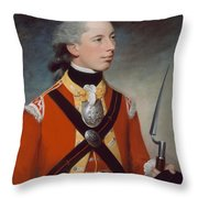 Captain Thomas Hewitt, 10th Regiment Throw Pillow by William Tate