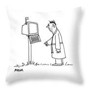Captionless: Mailbox-computer Throw Pillow