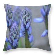 Captivating Campanula Throw Pillow