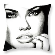 Captivating Eyes Throw Pillow