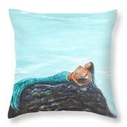 Captivating Mermaid Throw Pillow