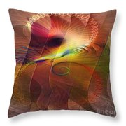 Captive Moment - Square Version Throw Pillow