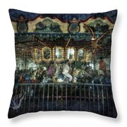 Captive On The Carousel Of Time Throw Pillow