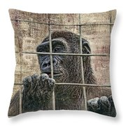Captivity Throw Pillow