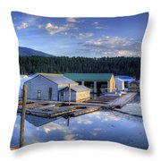 Bayview Marina 2 Throw Pillow
