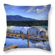 Bayview Marina 3 Throw Pillow
