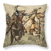 Capture Of Samory By Lieutenant Throw Pillow