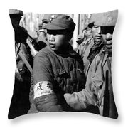 Captured Chinese Soldier Throw Pillow