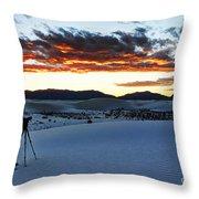 Capturing The Sunset Throw Pillow