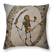 Capuchin Chapel Ceiling Rome Throw Pillow