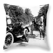 Car And Carriage, 1914 Throw Pillow