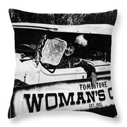 Car And Driver In Helldorado Days Parade In Tombstone Arizona 1967 Throw Pillow