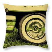 Car And Tire Throw Pillow