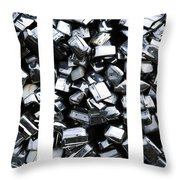 Car Bumpers Triptych Throw Pillow