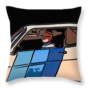 Car Driving By Throw Pillow
