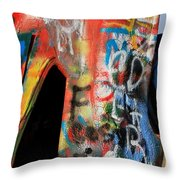 Car Of Many Colors Throw Pillow