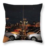 Car Park Beauty Throw Pillow