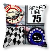 Speed Demon Art For Boys And Men Throw Pillow