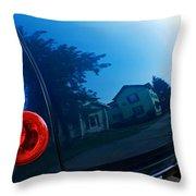 Car Reflection 8 Throw Pillow
