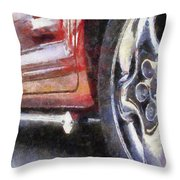 Car Rims 02 Photo Art 02 Throw Pillow