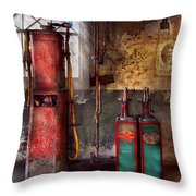 Car - Station - Gas Pumps Throw Pillow