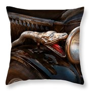 Car - Steamer - Snake Charmer  Throw Pillow by Mike Savad