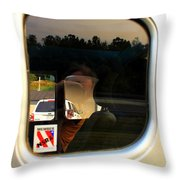 Car Window Reflection Throw Pillow