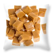Caramel Cubes Throw Pillow