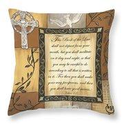Caramel Scripture Throw Pillow