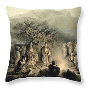 Caravan Of Armenian Merchants Throw Pillow