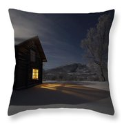 Carbon Dioxide Emissions At Minus 29 Degrees Centigrade Throw Pillow
