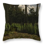 Carboniferous Forest Of The Eastern Throw Pillow