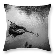 Carcass In The River Throw Pillow