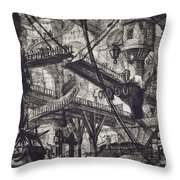 Carceri Vii Throw Pillow