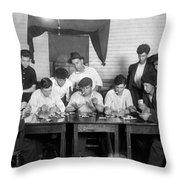 Card Game, 1916 Throw Pillow