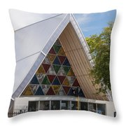 Cardboard Cathedral Throw Pillow