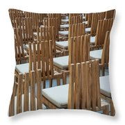 Cardboard Cathedral Chairs Throw Pillow