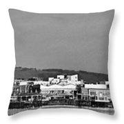 Cardiff Bay Panorama 2 Mono Throw Pillow