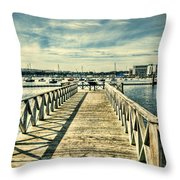 Cardiff Bay Wetlands 2 Throw Pillow