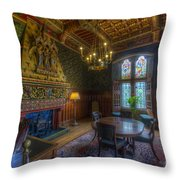 Cardiff Castle Apartment Dining Room Throw Pillow