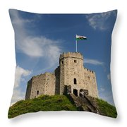 Cardiff Castle Keep Throw Pillow