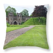 Cardiff Castle Wall 8383 Throw Pillow