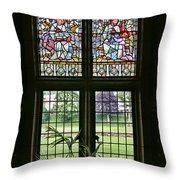 Cardiff Castle Window 8355 Throw Pillow