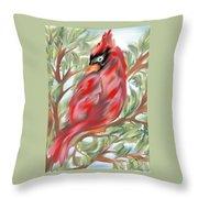 Cardinal At Rest Throw Pillow